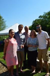 Me, Fiance, his parents, and a close friend